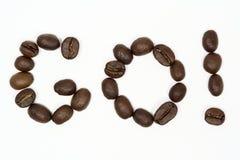 Va il caffè! Immagine Stock Libera da Diritti