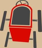 Va il kart Semplificato in metà di aria Immagine Stock
