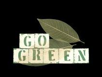 Va il verde con i fogli fotografia stock