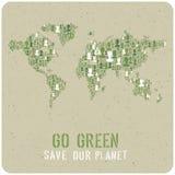 va il verde Concetto del manifesto di ecologia Vettore Immagine Stock