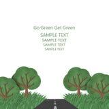 Va il verde ottiene verde Fotografia Stock Libera da Diritti