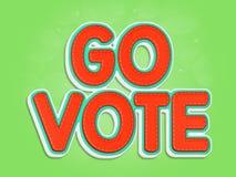 Va il voto Immagine Stock