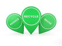 Va l'icona verde di concetto - immagine della rappresentazione 3D Immagini Stock