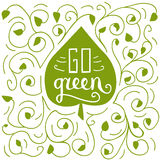 Va l'illustrazione verde di scarabocchio Immagine Stock Libera da Diritti