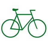 Va la bicicleta verde Fotografía de archivo libre de regalías