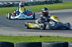 Va la corsa del kart Immagine Stock Libera da Diritti