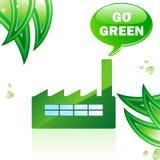Va la fabbrica lucida verde. Fotografia Stock Libera da Diritti
