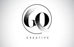 VA la lettera Logo Design del colpo della spazzola Pittura nera Logo Letters Icon Fotografia Stock Libera da Diritti