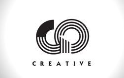 VA la progettazione di Logo Letter With Black Lines Linea vettore Illus della lettera Immagine Stock Libera da Diritti