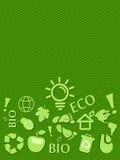 Va la scheda verde di Eco con il posto per testo Immagini Stock