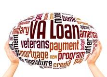 VA loan word cloud hand sphere concept stock illustration