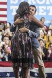 VA: Pierwszy dama Michelle Obama dla Hillary Clinton w Fairfax Fotografia Royalty Free