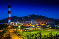 VA1 Power plant. Vung Ang thermo power project management board on December 29 said that the first turbine of Vung Ang 1 thermo power plant in Vung Ang Economic Stock Image