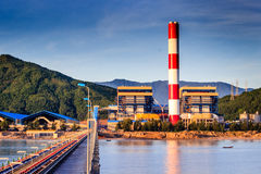 VA1 Power plant. Vung Ang thermo power project management board on December 29 said that the first turbine of Vung Ang 1 thermo power plant in Vung Ang Economic Stock Photography