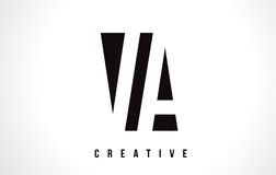 VA V A White Letter Logo Design with Black Square. VA V A White Letter Logo Design with Black Square Vector Illustration Template Stock Photography