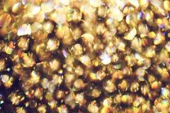 Vaag abstract licht van luxelamp bij nacht voor partij of vieringsachtergrond Royalty-vrije Stock Foto