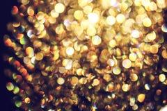 Vaag abstract licht van luxelamp bij nacht voor partij of vieringsachtergrond Royalty-vrije Stock Afbeelding