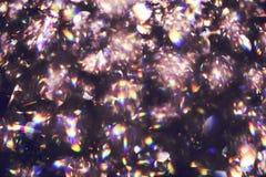 Vaag abstract licht van luxelamp bij nacht voor partij of vieringsachtergrond Royalty-vrije Stock Foto's