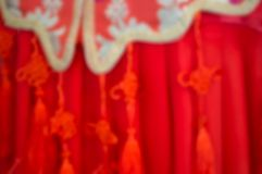 Vaag beeld van Chinese stijl rode robes stock fotografie