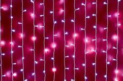 Vaag beeld van een heldere rode muur Stock Afbeelding
