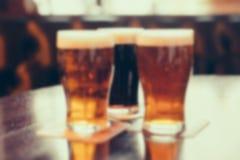 Vaag beeld van koele dranken in koffie met bokeh Stock Afbeelding
