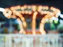 Vaag Bokeh-licht in Themapark Royalty-vrije Stock Foto