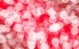 Vaag bokeh met abstract rood achtergrondlay-outontwerp, Web te Royalty-vrije Stock Afbeeldingen