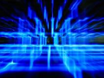 Vaag defocused blauwe lichte technologieachtergrond Stock Foto
