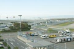 Vaag parkeerterrein in luchthaven Japan royalty-vrije stock fotografie