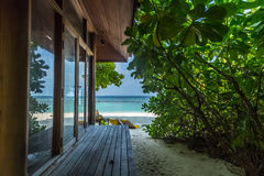 Vaagali wyspa Maldives Fotografia Royalty Free