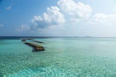 Vaagali wyspy seascape Maldives wyspy Zdjęcie Royalty Free
