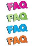 Vaak gestelde vragen vector illustratie