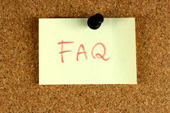 Vaak Gevraagd FAQ Vragen Royalty-vrije Stock Foto's