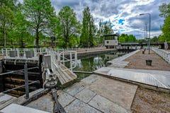 Vaaksy运河运输锁 库存图片