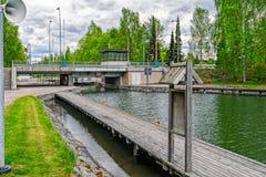 Vaaksy运河运输锁 免版税库存照片