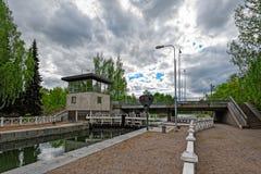 Vaaksy运河运输锁 免版税图库摄影
