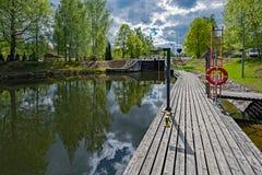Vaaksy运河运输锁 库存照片