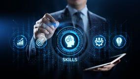 Vaardighedenonderwijs die Persoonlijk van de bedrijfs ontwikkelingsbekwaamheid concept leren stock illustratie