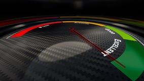 Vaardigheids vlakke indicator Stock Foto