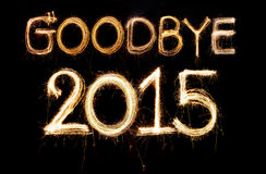 Vaarwel 2015 Royalty-vrije Stock Fotografie