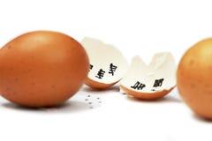 Vaarwel eierschaal Stock Foto