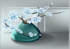 vaas en bloem Stock Afbeeldingen