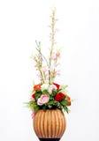 Vaas en bloemen Royalty-vrije Stock Afbeeldingen
