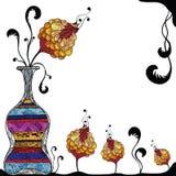 Vaas met bloem royalty-vrije illustratie