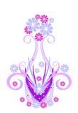 Vaas met bloemen stock illustratie