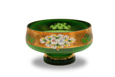 Vaas met bloemornament stock afbeeldingen
