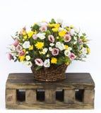 Vaas met bloemstuk Stock Afbeelding
