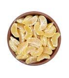 Vaas met mandarijnen Stock Foto
