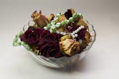Vaas met Rozen Stock Foto