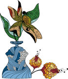 Vaas van bloemen royalty-vrije illustratie